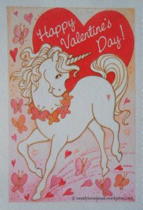 Vintage Unicorn Valentine