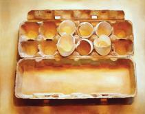 "Mary Pratt, ""Eggs in an Egg Crate"", 1975"
